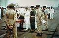 Japanese signing surrender Rabaul on HMS Glory (R62) 1945.jpg