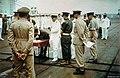 Japanese signing surrender Rabaul on HMS Glory (R62) 1945.jpg