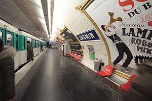Jasmin (Paris Métro) - Image: Jasmin 1