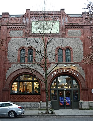Patagonia (clothing) - A Patagonia store in Portland, Oregon, was located in a renovated 1895-built former warehouse until moving to a new location in 2017.
