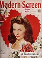Jeanne Crain on Modern Screen cover, February 1945.jpg