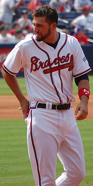 Jeff Francoeur - Francoeur playing for the Atlanta Braves in 2008