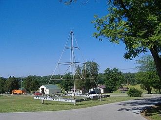 Jefferson Davis State Historic Site - Image: Jeff Davis KY monument topper