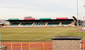 Jenner Park Stadium - The second stand at Jenner Park, known locally as the 'New Stand'.