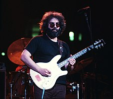 Jerry Garcia performing in May 1977, Fox Theatre, Atlanta, Georgia