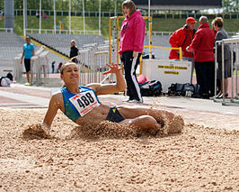 Jessica Ennis op hetYorkshire Track and Field Championships