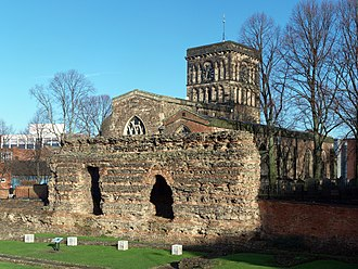 St Nicholas' Church, Leicester - St Nicholas and the Jewry Wall