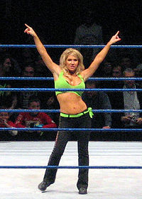 Jillian Hall during a show on the WWE SmackDown! Live Tour in Barcelona.