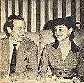 Jim Hanson and Audrey Hepburn, 1953.jpg