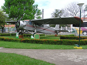 Jimmie Angel - Jimmie Angel's aircraft, El Rio Caroní, exhibited in front of Ciudad Bolívar airport