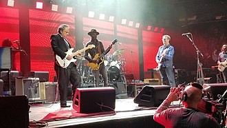 Jimmie Vaughan - Jimmie Vaughan and Gary Clark, Jr. join Eric Clapton on stage for the encore during Clapton's show at Madison Square Garden on May 19, 2017.