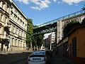 Jiná dopravní stavba - kolejiště, pozemky a doprovodné železniční stavby (Žižkov), Pražská spoj. dráha, Státní dráha, Turnovsko - kralupsko - pražská dráha v Praze, Žižkov - most na Žižkově.JPG