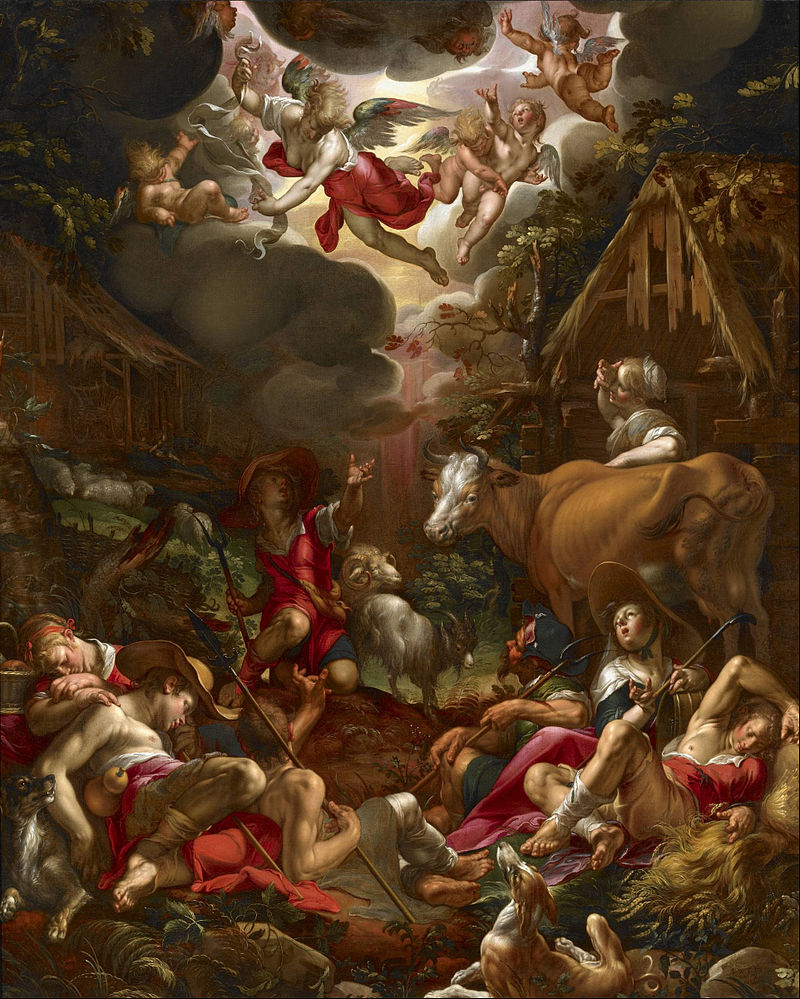 Joachim Wtewael - Annunciation to the Shepherds - Google Art Project.jpg