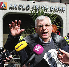 Joe Higgins MEP at banking crisis outside Anglo Irish Bank.jpg