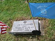 Joe R. Hastings Tombstone (head) at Magnolia Ohio.jpg