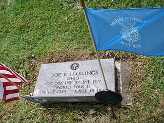 Joe R. Hastings United States Army Medal of Honor recipient
