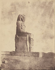 John Beasly Greene (American, born France - (The Colossus of Memnon at Thebes) - Google Art Project.jpg