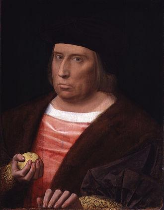John Bourchier, 2nd Baron Berners - Portrait by Ambrosius Benson, 1520–1526