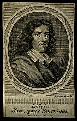 John Partridge. Line engraving by R. White, 1682, after hims Wellcome V0004503ER.jpg