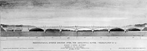 John Philip Sousa Bridge - Design approved in 1937 by the U.S. Commission of Fine Arts for the Sousa Bridge.