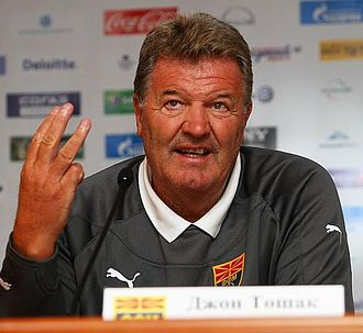 John Toshack - Toshack at a press conference  in 2011