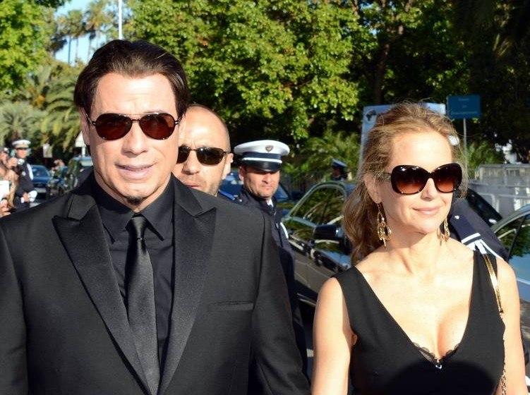 John Travolta Kelly Preston Cannes 2014