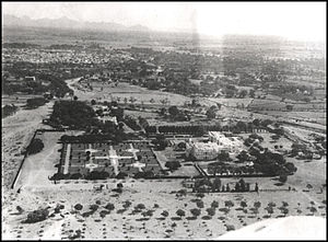 History of Palanpur - An aerial view of Jorawar Palace, 1936