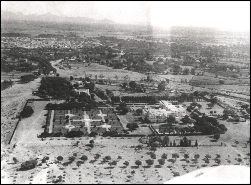 Jorawar Palce Aerial View Palanpur Gujarat 1936