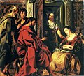 Jordaens Jesus at the house of Mary.JPG