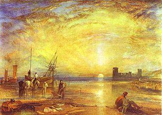 Flint Castle - 1838 watercolour painting of Flint Castle by J. M. W. Turner