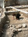 Jug in Situ, Abbasid period City of David Givaty parking lot Jerusalem.JPG