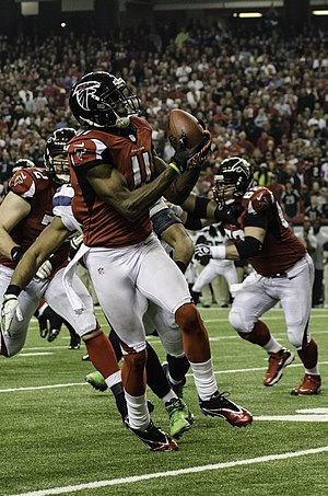 Julio Jones - Jones playing for the Atlanta Falcons against the Seattle Seahawks in the divisional round of the 2012 NFL playoffs