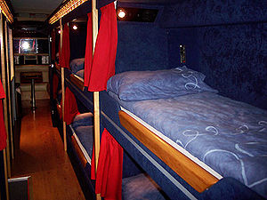 Sleeper bus - Bunks in a Jumbocruiser Ayats band bus