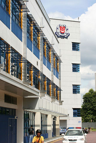 Singapore Police Force - Jurong Police Division Headquarters at Jurong West Avenue 5, note the Singapore Police Force crest prominently displayed.