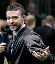 Timberlake at the Shrek the Third London premiere in June 2007
