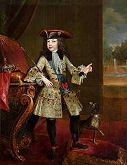 Portret Ludwika XV w młodym wieku