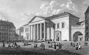 Copenhagen Court House - The Town Hall in c. 1845
