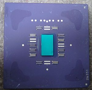 AMD K6-2 - AMD-K6-2 with integrated heat spreader removed