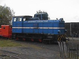Welsh Highland Heritage Railway - Lyd2 No. 60 awaits work in Gelerts Farm Works yard