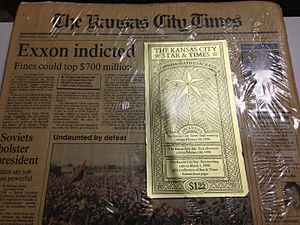 Kansas City Times - Last edition of The Kansas City Times on February 28th, 1990
