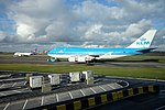 KLM Boeing 747 at Amsterdam airport (40027873472).jpg