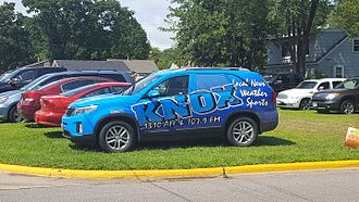 KNOX (AM) - KNOX's station vehicle, spotted in Sauk Rapids, Minnesota.