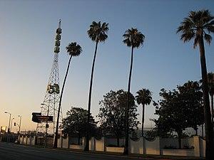 KTLA - KTLA tower on Sunset Boulevard in 2007.