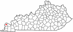Location of LaCenter, Kentucky