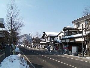 Kakunodate, Akita - a commercial street in Kakunodate