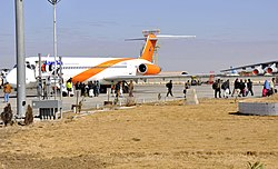 Kam Air at Kandahar International Airport in 2012.jpg