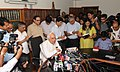 Kapil Sibal addressing the media regarding proposed legislative measures to prevent dishonest practices in National & International sporting events held in the country, in New Delhi on May 25, 2013.jpg