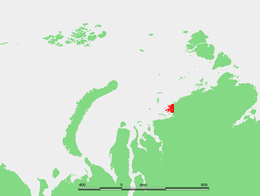 Location of the Minina Skerries. Kolosovykh Island is in the northern part of the skerries.