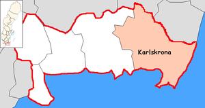 Karlskrona Municipality - Image: Karlskrona Municipality in Blekinge County