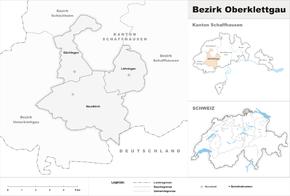 Map of Oberklettgau district